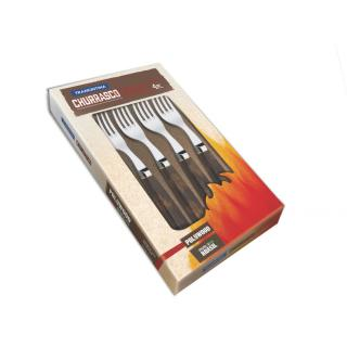 Churrasco Steakgabel Jumbo Set 4tlg.braun