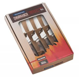 Churrasco Steakmesser Set 4tlg.braun