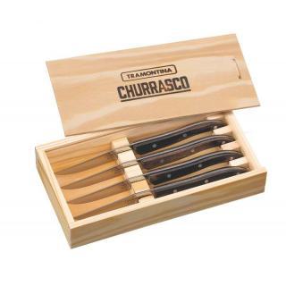 Churrasco French Style Steakmesser Set 4tlg. braun