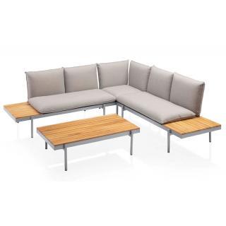 Kettler Straight Lounge teak/silber/beige