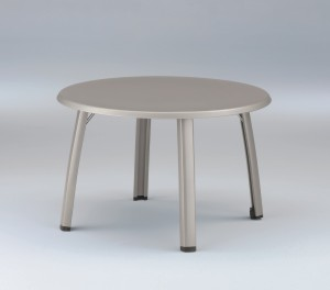 Alu-Klapptisch 115 cm rund graphit