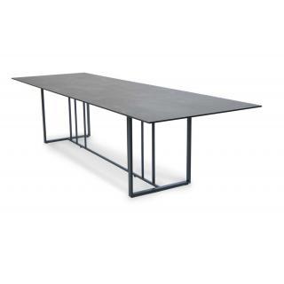 Fischer Suite Tisch 200x95cm Edelstahl matt