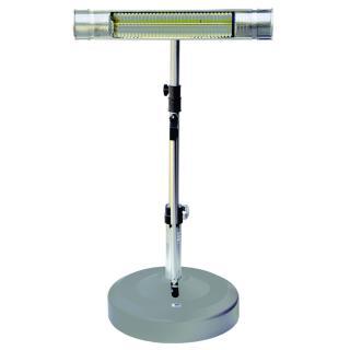 Liro Heizstrahlersystem IP 65 mit Teleskoprohr silber/graphit