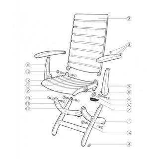 Kettler Füßchen für Tiffany Sessel, weiss, 4 Stk.
