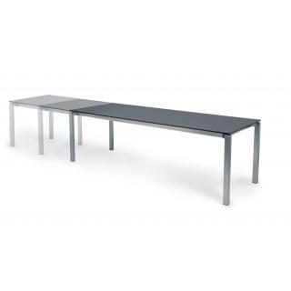 Fischer Modena Tisch 95x150/210cm weiß,Edelstahl