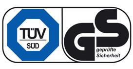 TÜV zertifizierte Sicherheit