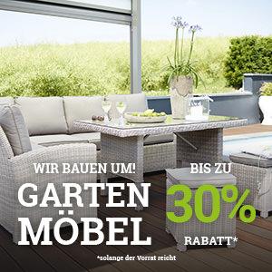 30% auf alle Gartenmöbel